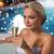 happy woman drinking champagne at swimming pool stock photo © dolgachov