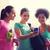 tornaterem · haverok · üvegek · víz · mosoly · nők - stock fotó © dolgachov