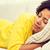 mulher · jovem · adormecido · sofá · casa · coberto · cobertor - foto stock © dolgachov