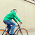 happy young hipster man riding fixed gear bike stock photo © dolgachov