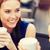 sonriendo · las · mujeres · jóvenes · las · tazas · de · café · Servicio · comunicación · amistad - foto stock © dolgachov