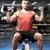 若い男 · 行使 · ダンベル · 上腕二頭筋 · ダンベル - ストックフォト © dolgachov