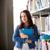 glücklich · Studenten · Mädchen · Frau · Buch · Bibliothek - stock foto © dolgachov