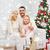 happy family at home with christmas tree stock photo © dolgachov