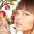 gelukkig · vrouw · appel · takje · foto · gezicht - stockfoto © dolgachov