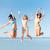 grupo · sorridente · mulheres · jovens · saltando · ar · felicidade - foto stock © dolgachov