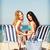 cadeiras · de · praia · praia · água · sol · paisagem · oceano - foto stock © dolgachov