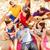 grupo · amigos · praia · verão · férias - foto stock © dolgachov
