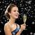 улыбающаяся · женщина · стекла · вино · вечеринка - Сток-фото © dolgachov
