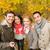 glimlachend · vrienden · najaar · park · seizoen - stockfoto © dolgachov