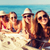 группа · улыбаясь · пляж · Летние · каникулы · путешествия - Сток-фото © dolgachov