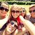 group of smiling friends making selfie in park stock photo © dolgachov