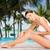 başvurmak · havuz · plaj · palmiye · ağaçları · cennet - stok fotoğraf © dolgachov