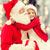 smiling little girl with santa claus stock photo © dolgachov