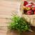 свежие · красный · яблоки · плетеный · корзины · деревянный · стол - Сток-фото © dolgachov
