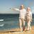 Pareja · caminando · playa · caucásico · otro - foto stock © dolgachov