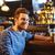 glücklich · Mann · trinken · Bier · bar · Veröffentlichung - stock foto © dolgachov