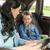 happy family with tablet pc driving in car stock photo © dolgachov