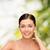 sorridente · mulher · jovem · saúde · mulher · mão - foto stock © dolgachov