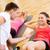 группа · улыбаясь · женщины · сидеть · спортзал · фитнес - Сток-фото © dolgachov