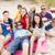 grupo · amigos · guitarra · playa · verano - foto stock © dolgachov