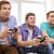 три · подростков · играет · Видеоигры · видео · темно - Сток-фото © dolgachov