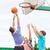 gruppo · felice · adolescenti · giocare · basket - foto d'archivio © dolgachov