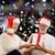 gelukkig · winter · nacht · home · vergadering - stockfoto © dolgachov