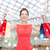 mujer · vestido · rojo · compras · venta · regalos - foto stock © dolgachov