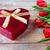 vermelho · tulipas · chocolate · caixa · flores - foto stock © dolgachov