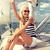 若い女性 · 船乗り · 海洋 · 笑顔 · ファッション · 夏 - ストックフォト © dolgachov