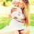 happy mother with little baby sitting on blanket stock photo © dolgachov