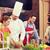 felice · Coppia · cucina · cottura · classe · culinaria - foto d'archivio © dolgachov