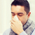 男 · スカーフ · 鼻をかむ · ホーム · 医療 - ストックフォト © dolgachov