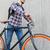 man · vast · versnelling · fiets · rugzak - stockfoto © dolgachov