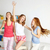 mutlu · arkadaşlar · genç · kızlar · ev - stok fotoğraf © dolgachov