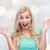 verwonderd · glimlachend · jonge · vrouw · tienermeisje · emoties · uitdrukkingen - stockfoto © dolgachov