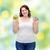 幸せ · プラスサイズ · 女性 · リンゴ · クッキー - ストックフォト © dolgachov