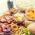 fast-food · lanches · beber · tabela · insalubre · comer - foto stock © dolgachov