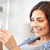 gelukkig · vrouw · naar · home · zwangerschaptest · zwangerschap - stockfoto © dolgachov