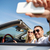 gelukkig · paar · rijden · auto · recreatie - stockfoto © dolgachov