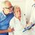 famille · malade · supérieurs · femme · hôpital · médecine - photo stock © dolgachov