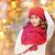 feliz · mulher · inverno · seis · natal · luzes - foto stock © dolgachov