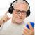 mutlu · kıdemli · adam · kulaklık · teknoloji - stok fotoğraf © dolgachov