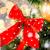 Rood · boeg · decoratie · kerstboom · vakantie - stockfoto © dolgachov