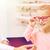 oculista · óculos · menina · ótica · armazenar - foto stock © dolgachov