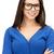gelukkig · glimlachende · vrouw · heldere · foto · business · vrouw - stockfoto © dolgachov