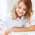 little girl painting at school stock photo © dolgachov