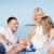 gelukkig · gezin · spelen · samen · picknick · buitenshuis · gelukkig - stockfoto © dolgachov