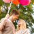 amoroso · casal · balões · parque · feliz · mãe - foto stock © dolgachov